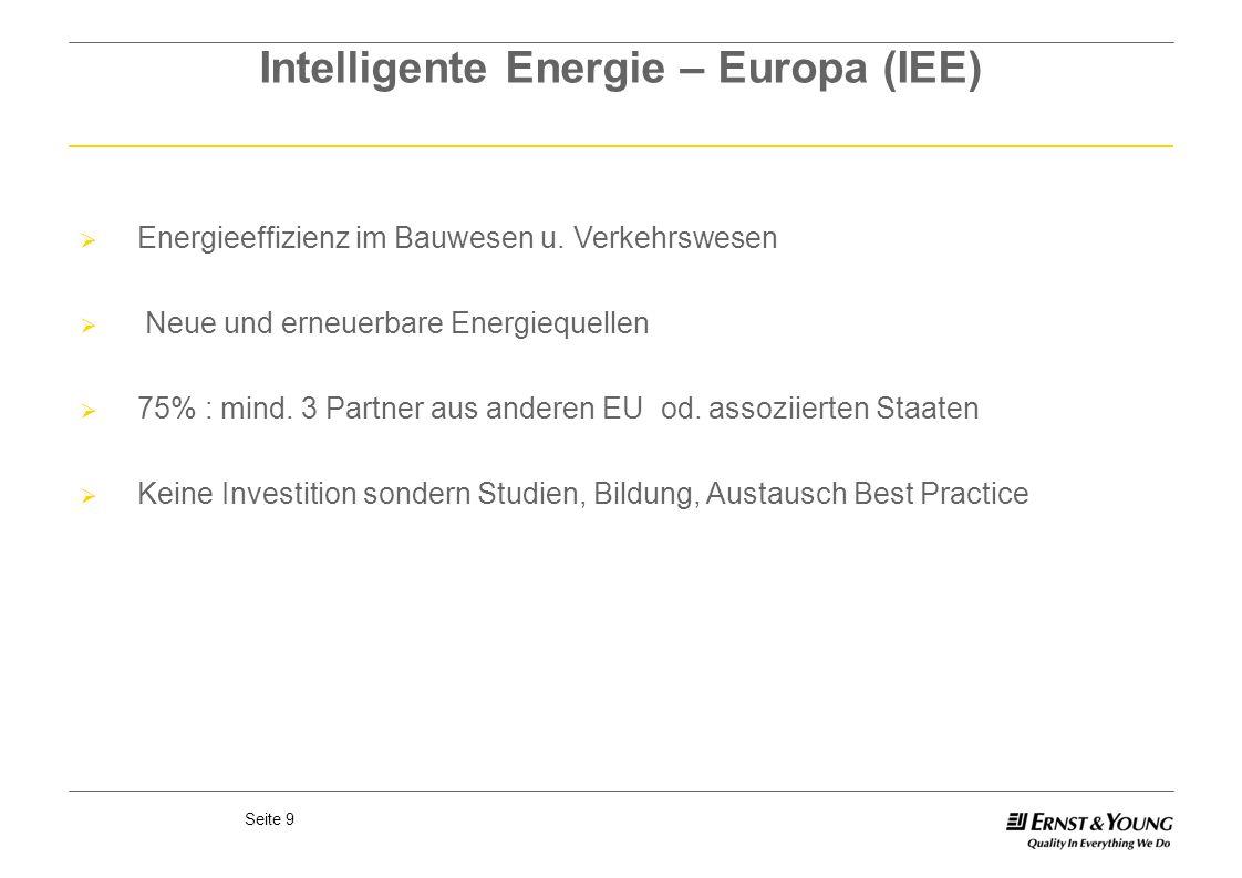 Intelligente Energie – Europa (IEE)