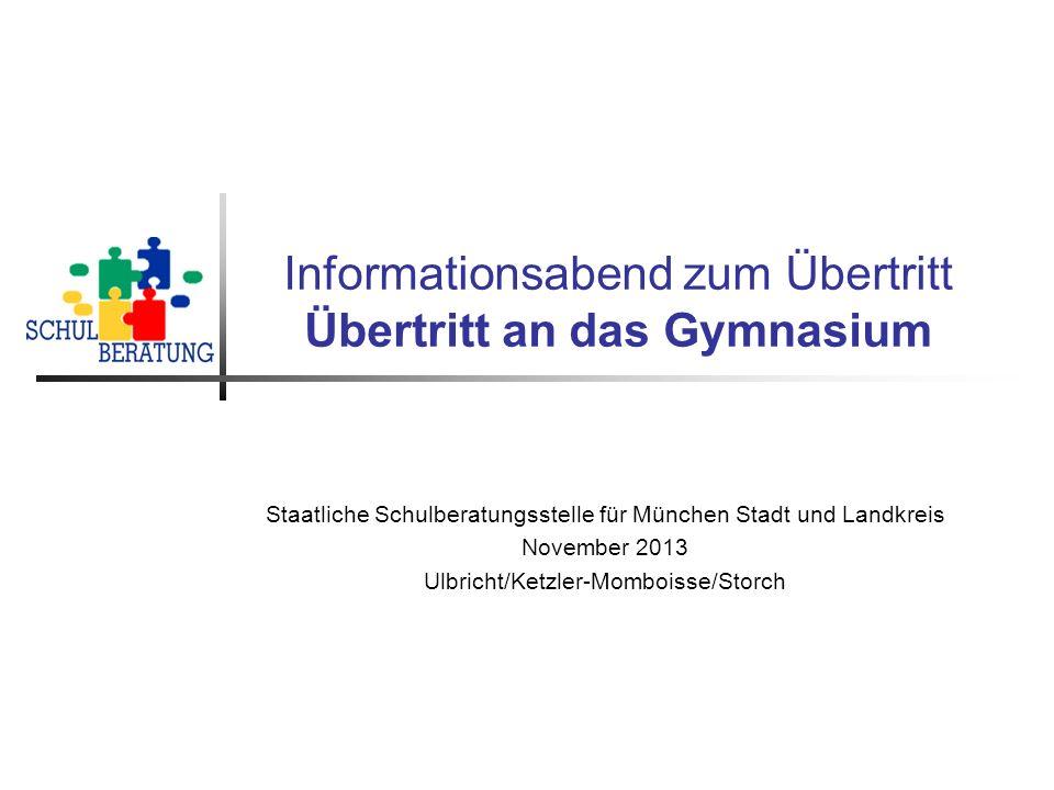 Informationsabend zum Übertritt Übertritt an das Gymnasium