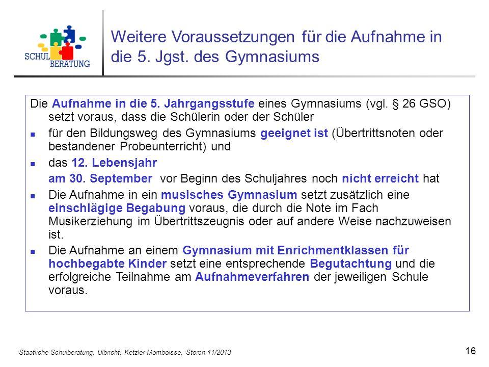 Staatliche Schulberatung, Ulbricht, Ketzler-Momboisse, Storch 11/2013