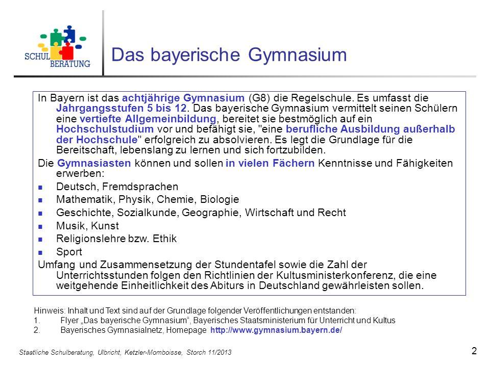 Das bayerische Gymnasium