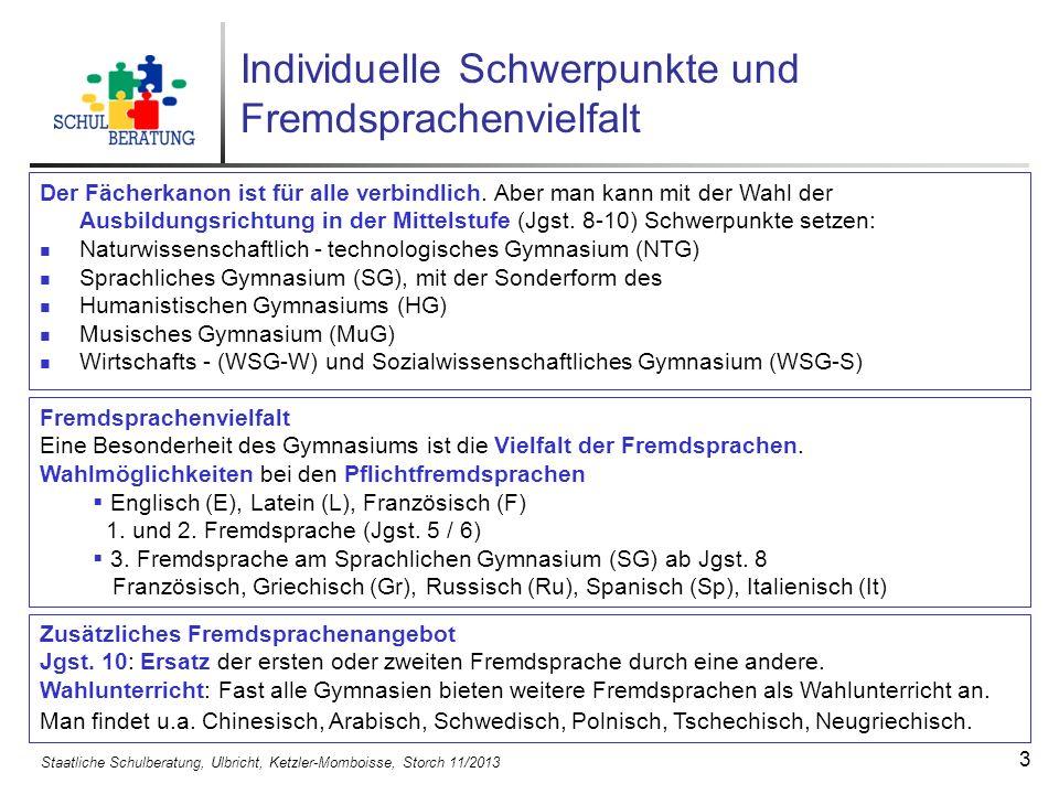 Individuelle Schwerpunkte und Fremdsprachenvielfalt