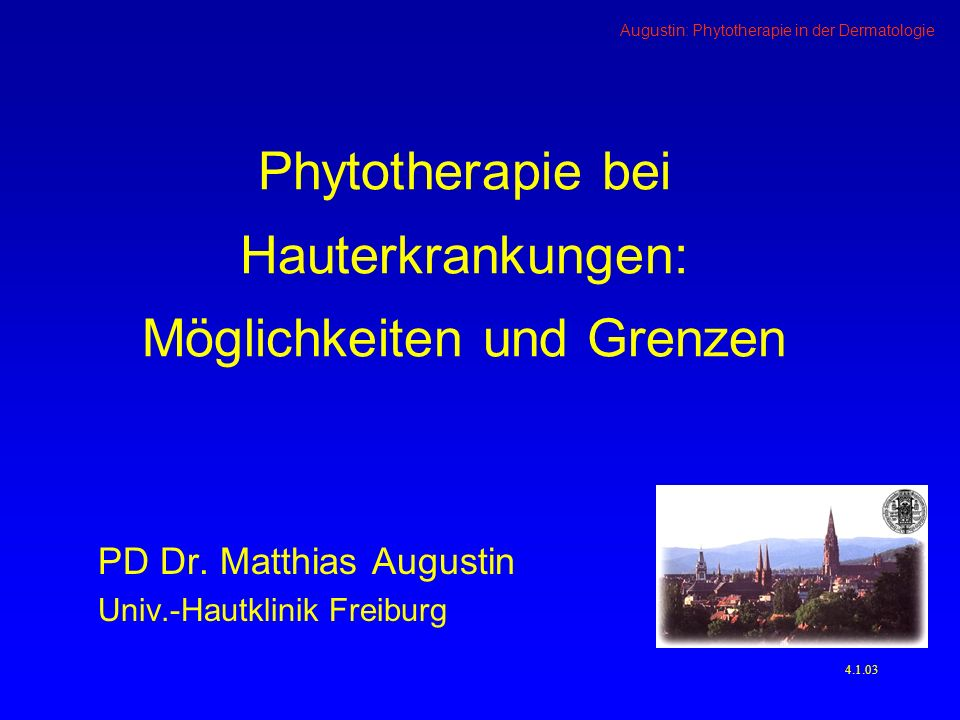 Phytotherapie bei Hauterkrankungen: Möglichkeiten und Grenzen