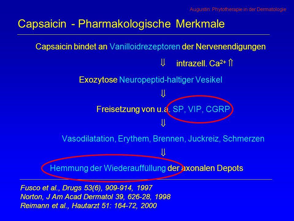 Capsaicin - Pharmakologische Merkmale