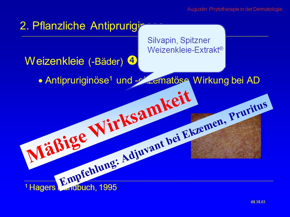 2. Pflanzliche Antipruriginosa