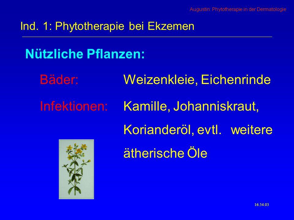 Ind. 1: Phytotherapie bei Ekzemen
