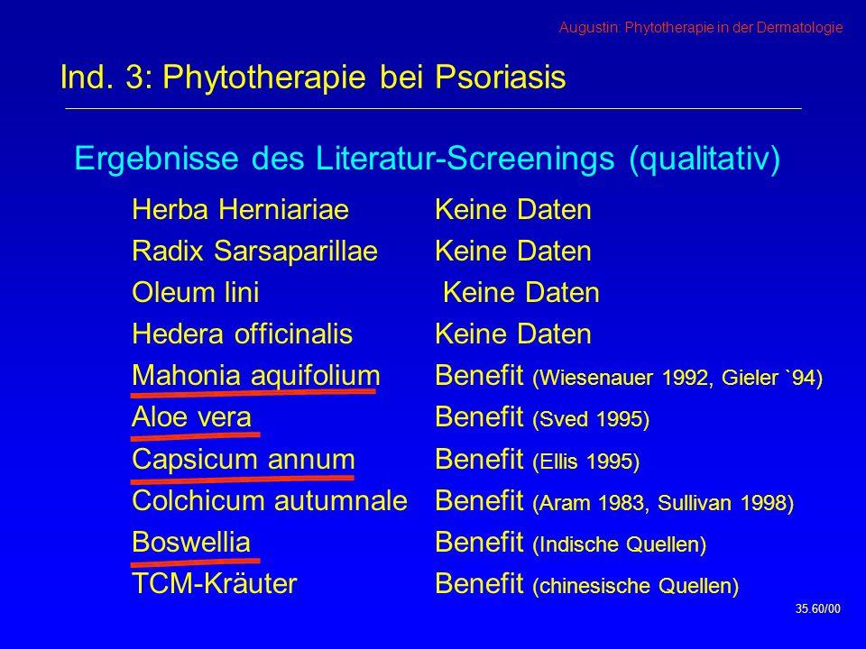 Ind. 3: Phytotherapie bei Psoriasis