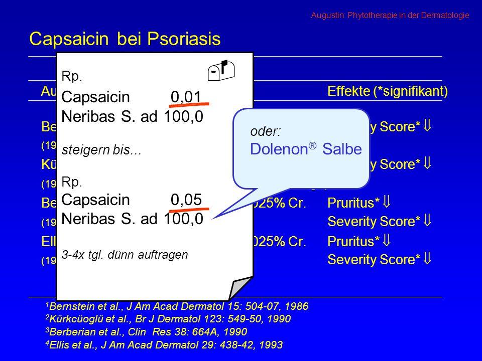 Capsaicin bei Psoriasis