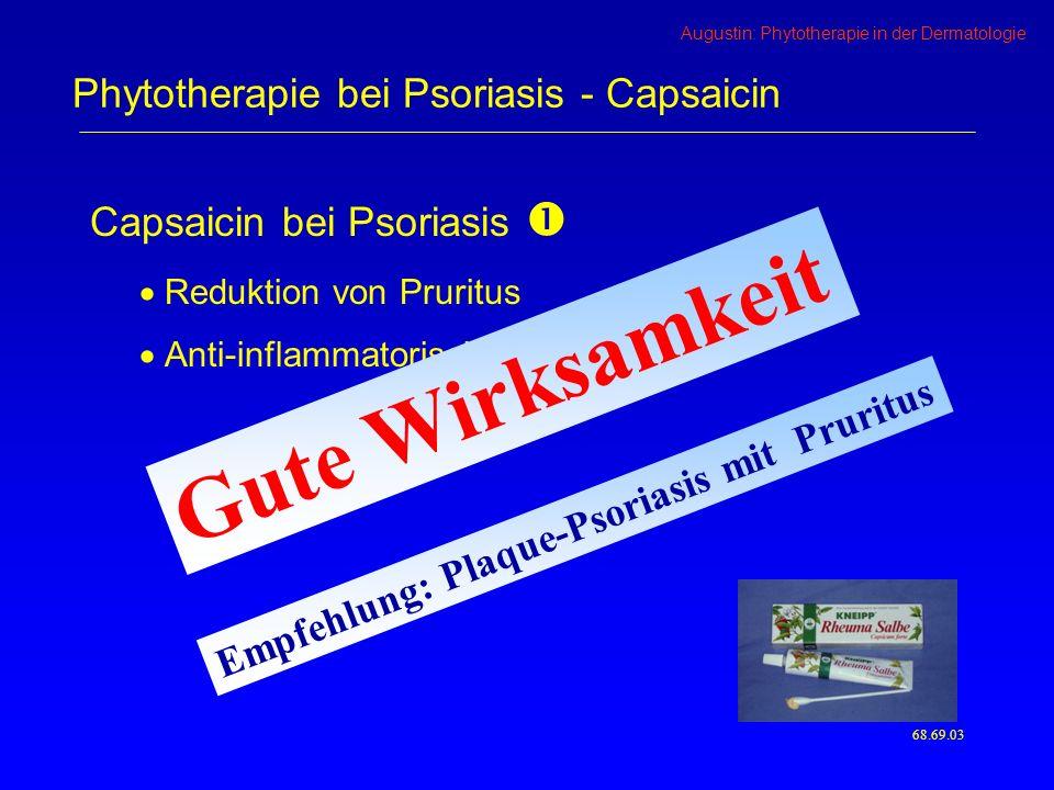 Phytotherapie bei Psoriasis - Capsaicin