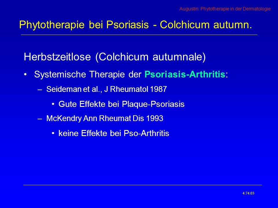Phytotherapie bei Psoriasis - Colchicum autumn.