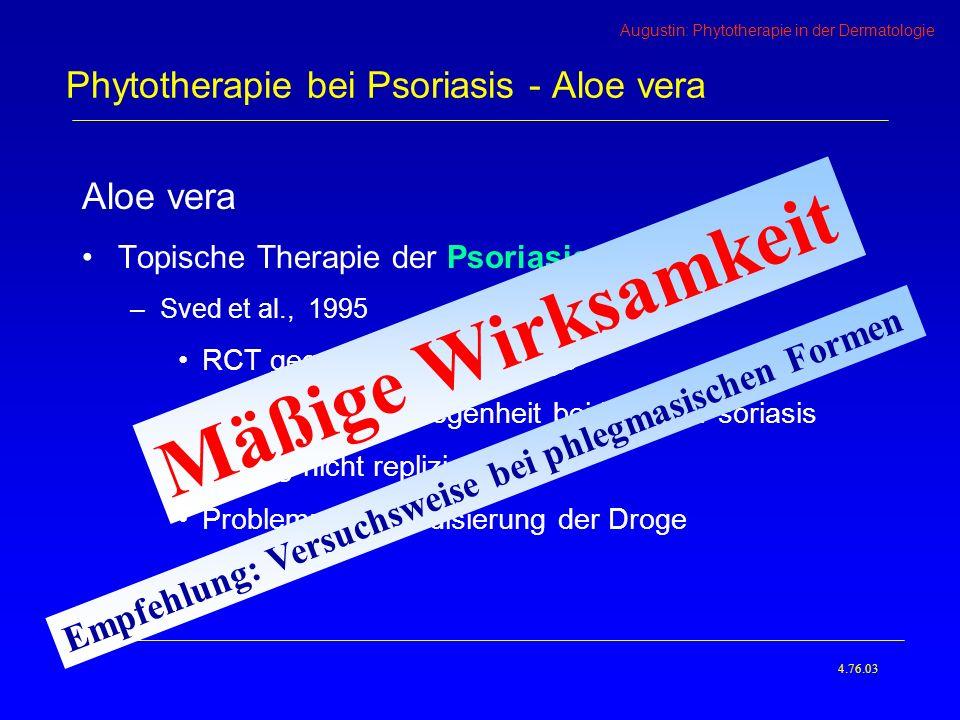 Phytotherapie bei Psoriasis - Aloe vera