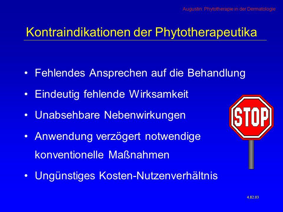 Kontraindikationen der Phytotherapeutika