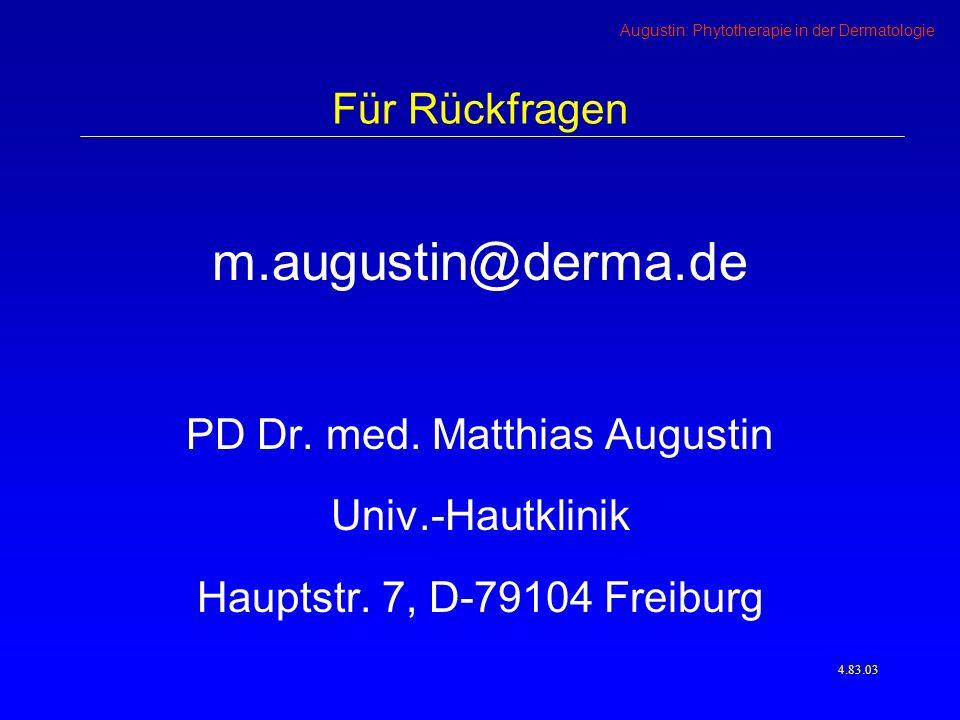 PD Dr. med. Matthias Augustin