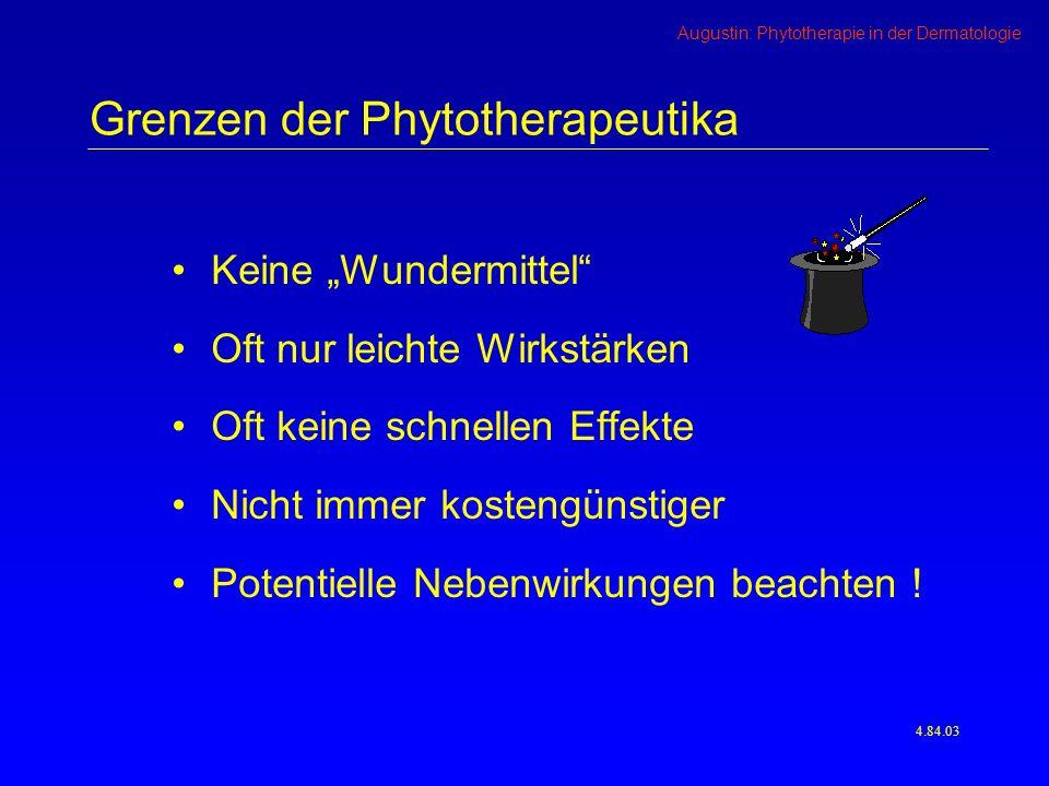 Grenzen der Phytotherapeutika