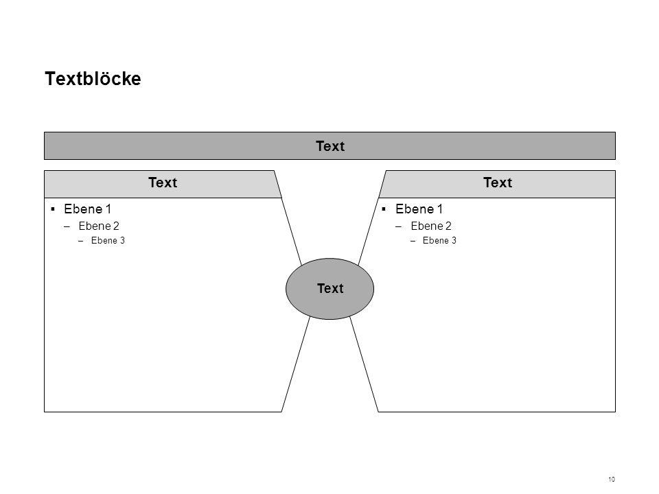 Textblöcke Ebene 1 Ebene 2 Ebene 3 Text