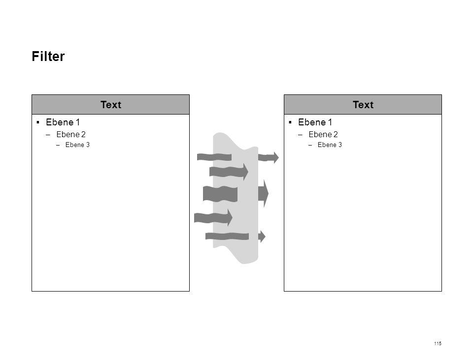 Filter Text Ebene 1 Ebene 2 Ebene 3