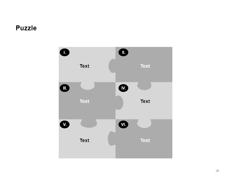Puzzle Text I. II. III. IV. V. VI.