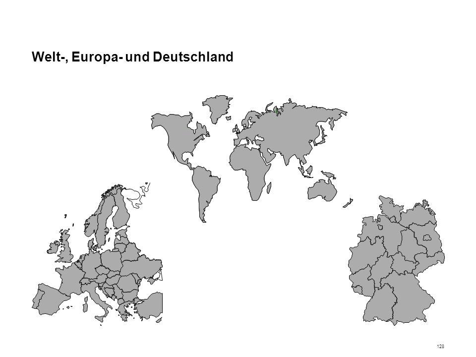 Welt-, Europa- und Deutschland