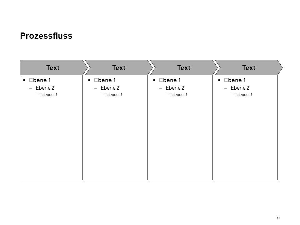 Prozessfluss Text Ebene 1 Ebene 2 Ebene 3