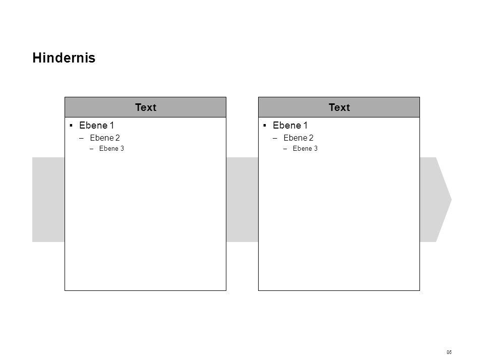 Hindernis Text Ebene 1 Ebene 2 Ebene 3