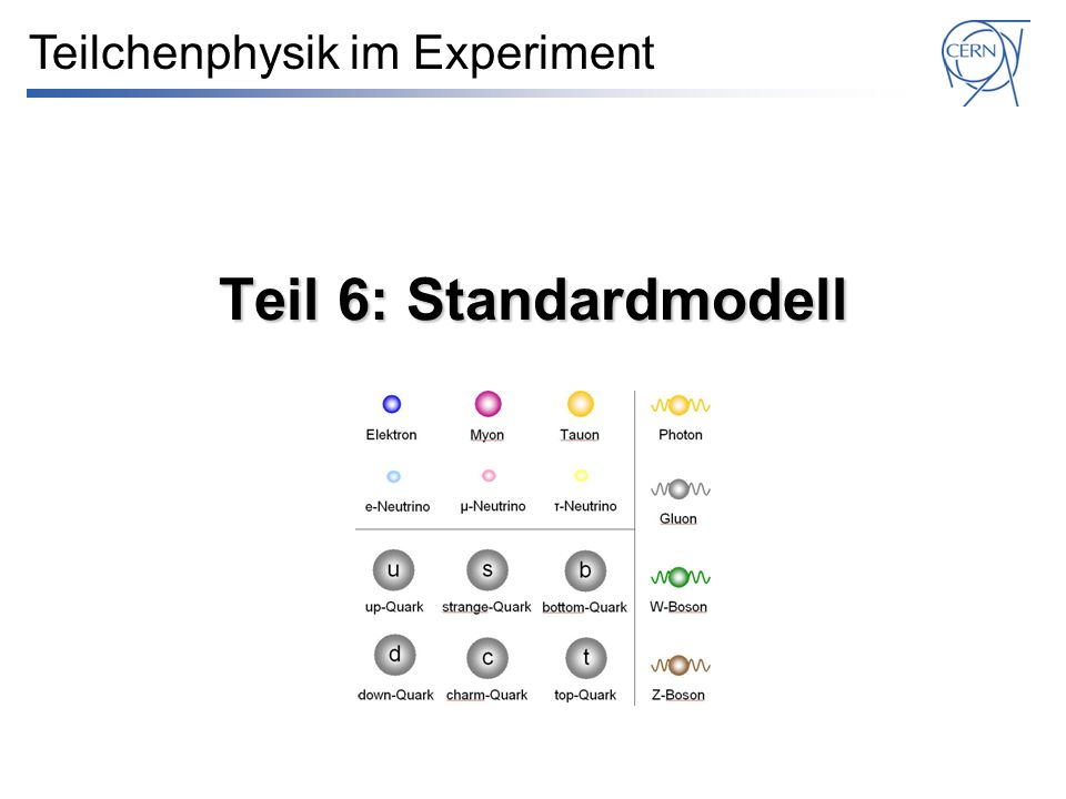 Teilchenphysik im Experiment