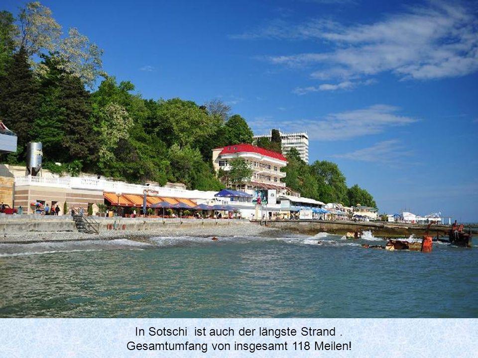 In Sotschi ist auch der längste Strand