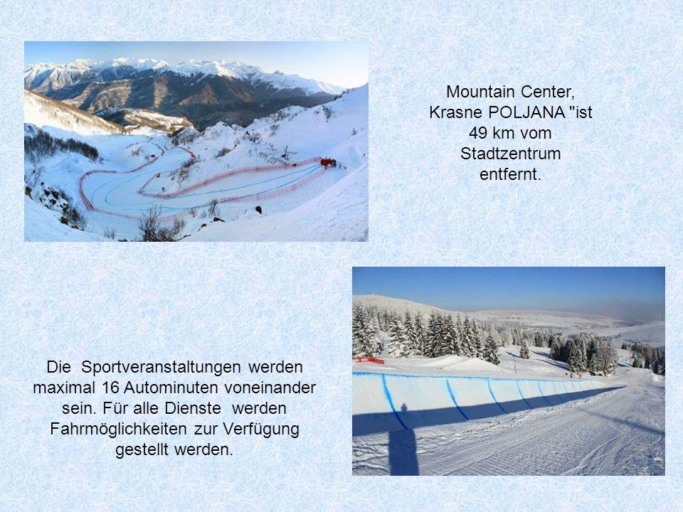 Mountain Center, Krasne POLJANA ist 49 km vom Stadtzentrum entfernt.