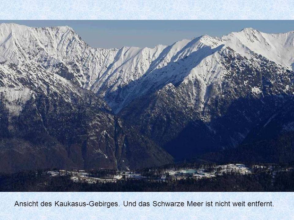Ansicht des Kaukasus-Gebirges