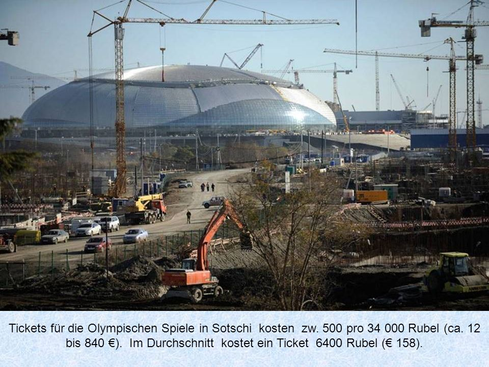 Tickets für die Olympischen Spiele in Sotschi kosten zw