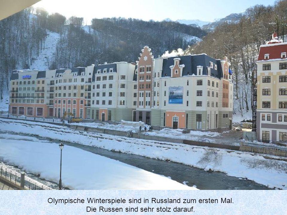 Olympische Winterspiele sind in Russland zum ersten Mal