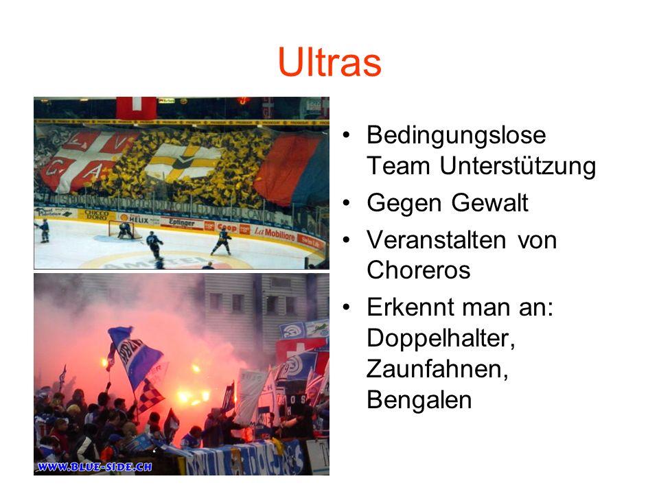 Ultras Bedingungslose Team Unterstützung Gegen Gewalt