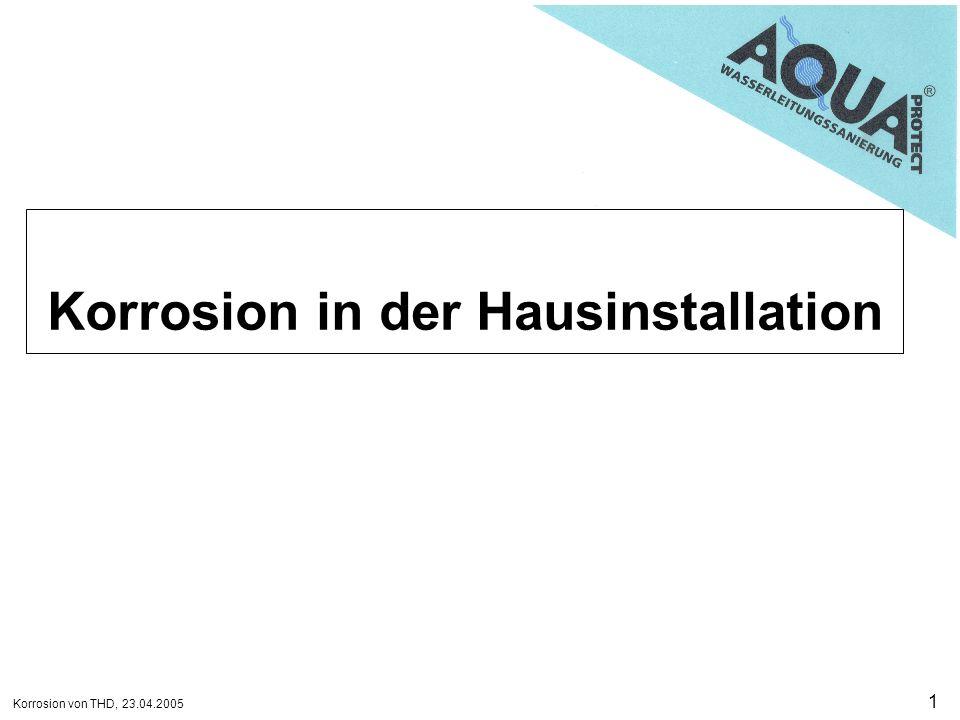 Korrosion in der Hausinstallation