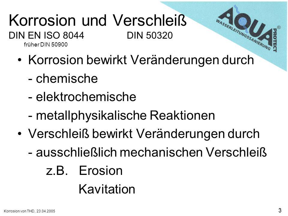 Korrosion und Verschleiß DIN EN ISO 8044 DIN 50320 früher DIN 50900