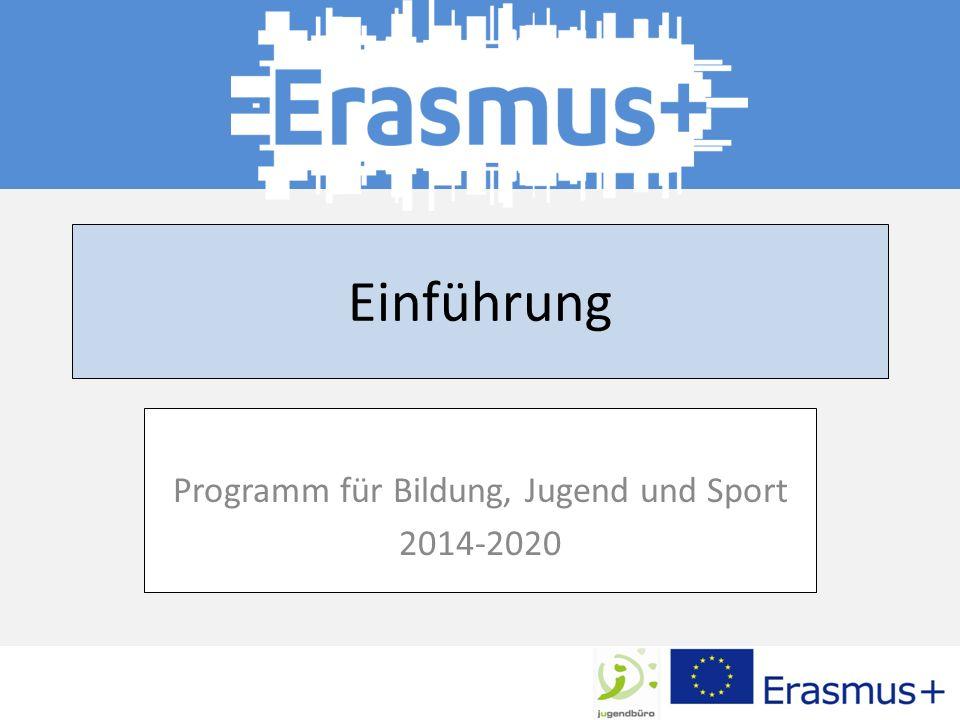 Programm für Bildung, Jugend und Sport 2014-2020