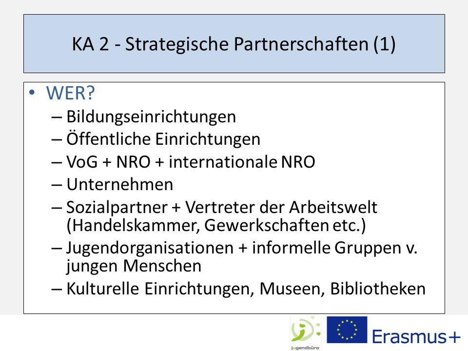 KA 2 - Strategische Partnerschaften (1)