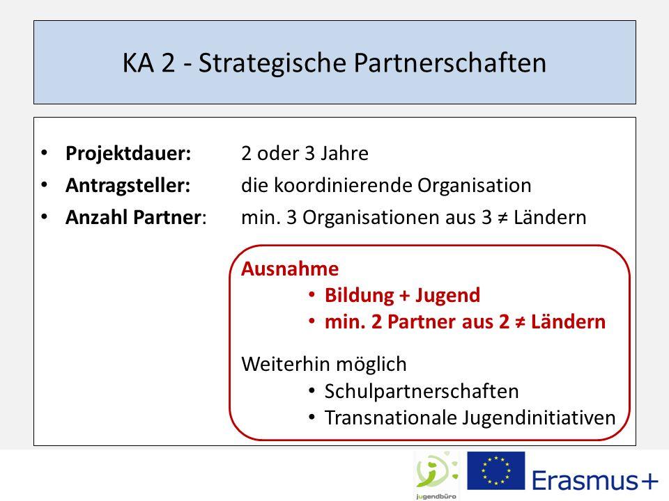 KA 2 - Strategische Partnerschaften