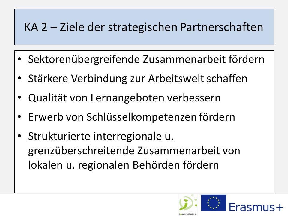 KA 2 – Ziele der strategischen Partnerschaften