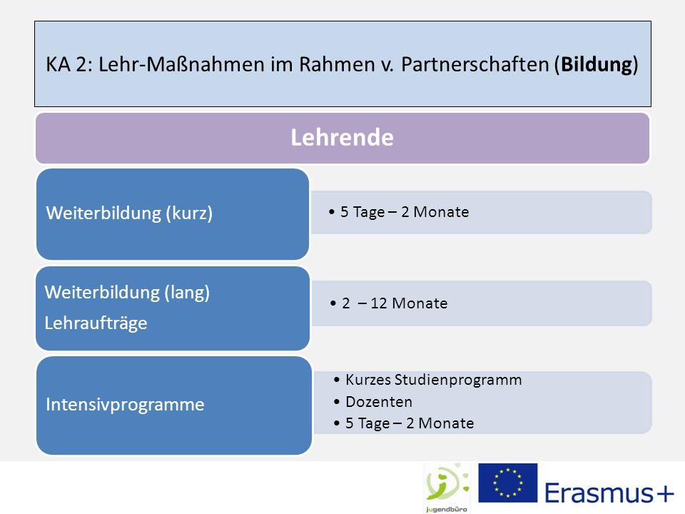 KA 2: Lehr-Maßnahmen im Rahmen v. Partnerschaften (Bildung)