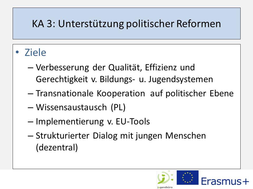 KA 3: Unterstützung politischer Reformen