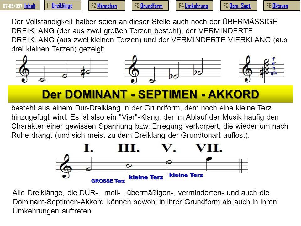 Der DOMINANT - SEPTIMEN - AKKORD