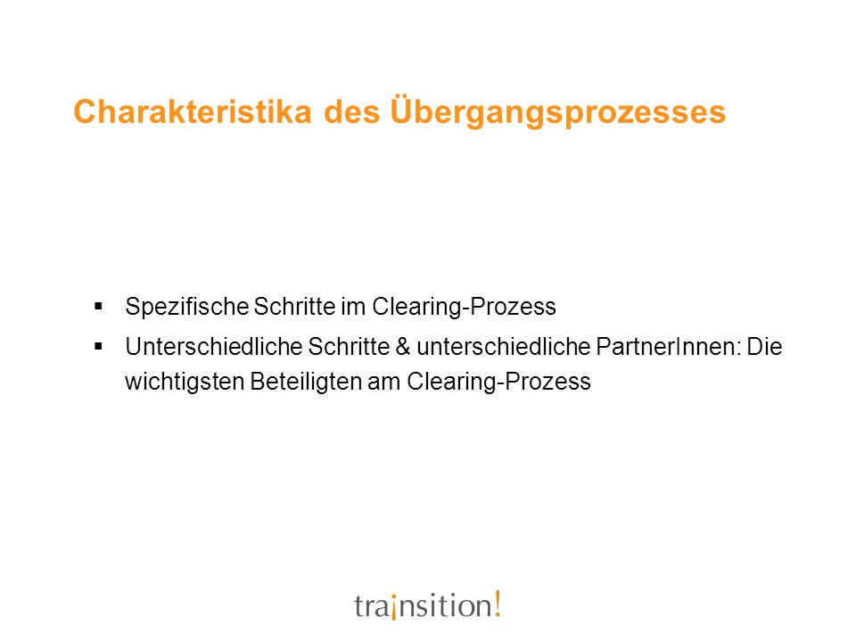 Charakteristika des Übergangsprozesses