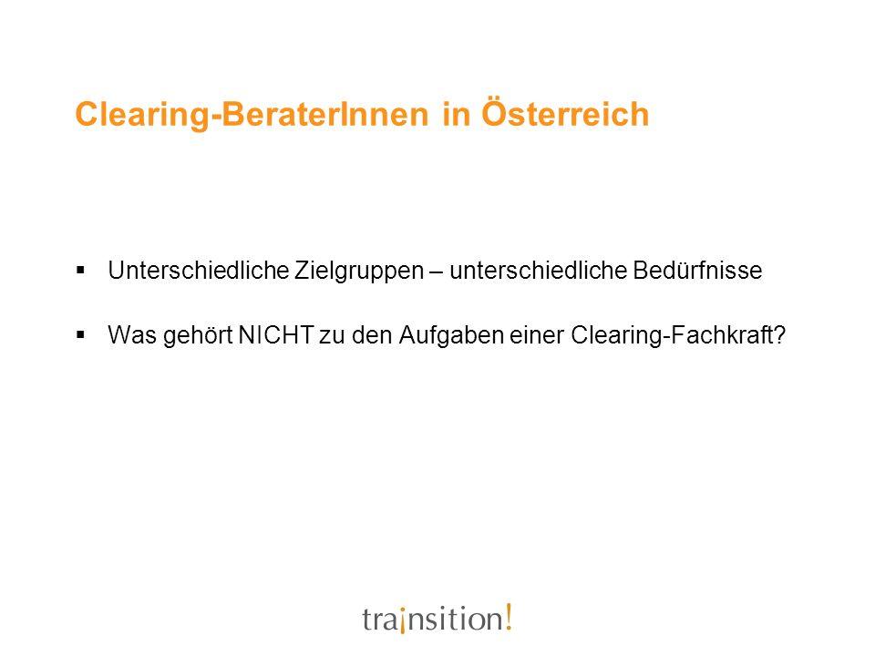 Clearing-BeraterInnen in Österreich