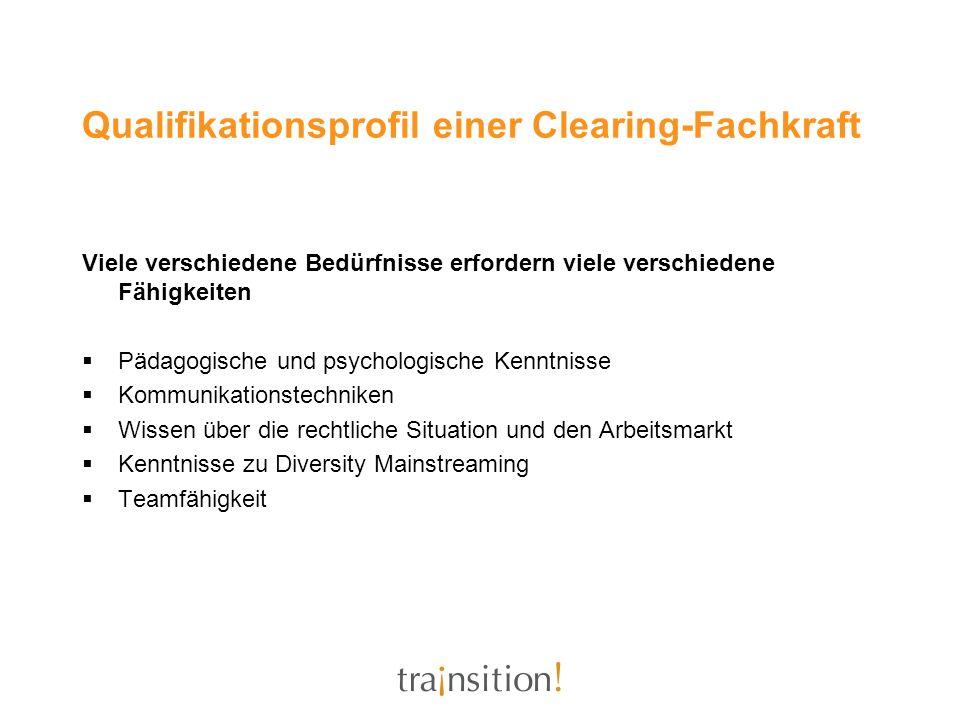 Qualifikationsprofil einer Clearing-Fachkraft
