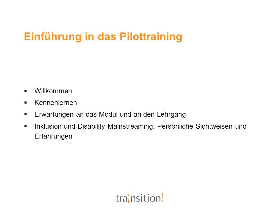 Einführung in das Pilottraining
