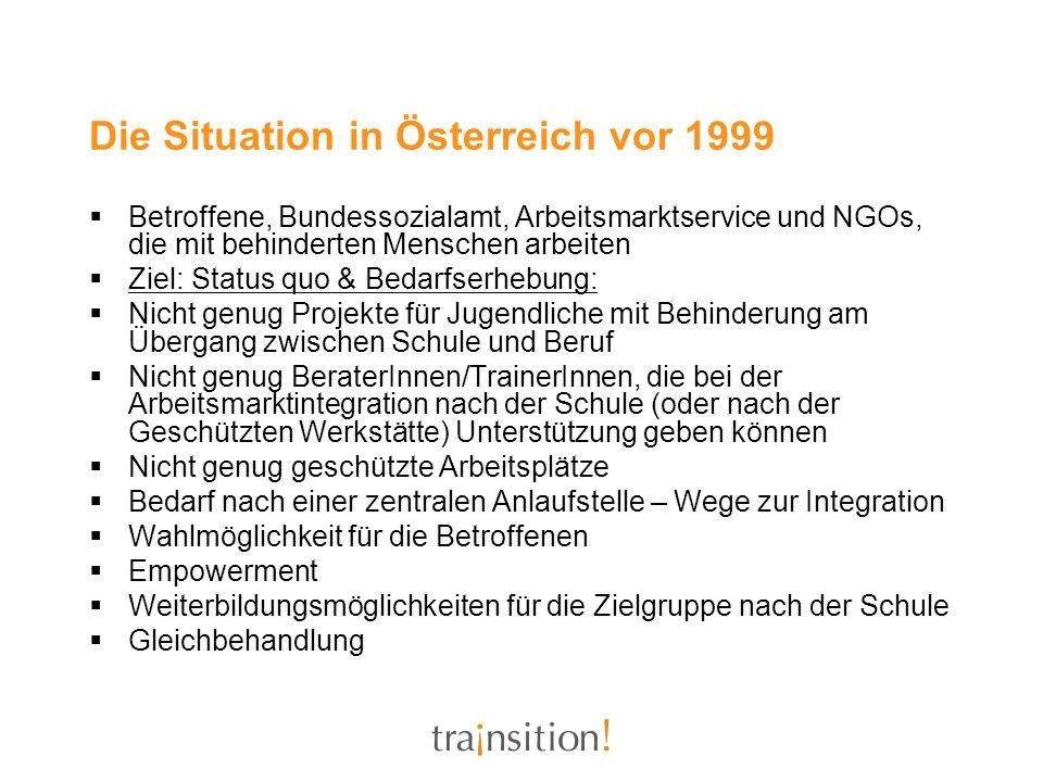 Die Situation in Österreich vor 1999