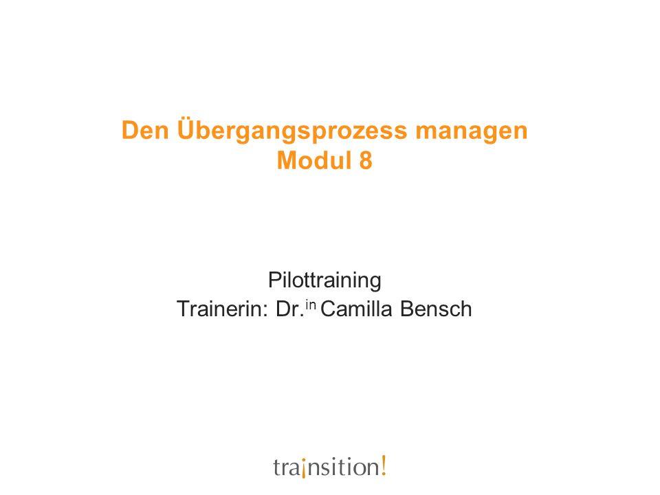 Den Übergangsprozess managen Modul 8