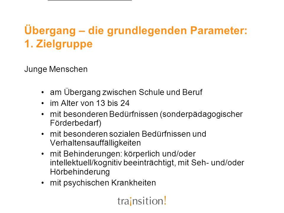 Übergang – die grundlegenden Parameter: 1. Zielgruppe