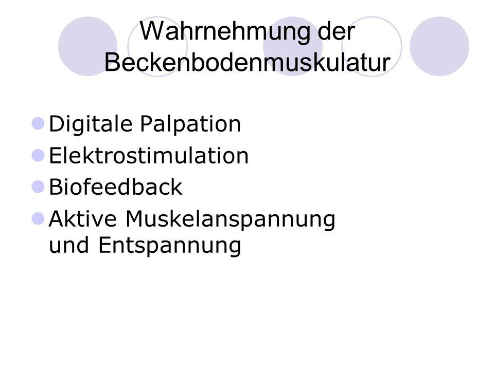 Wahrnehmung der Beckenbodenmuskulatur