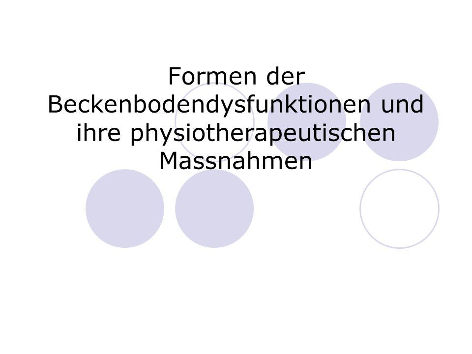 Formen der Beckenbodendysfunktionen und ihre physiotherapeutischen Massnahmen