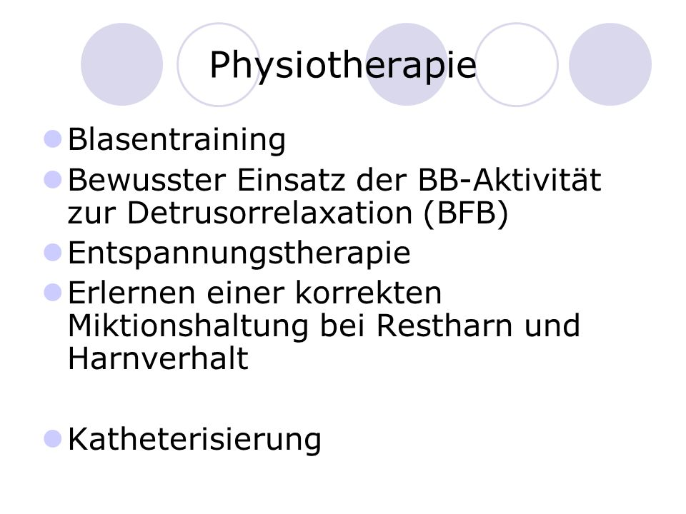 Physiotherapie Blasentraining