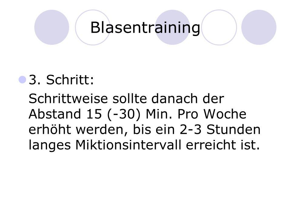 Blasentraining 3. Schritt: